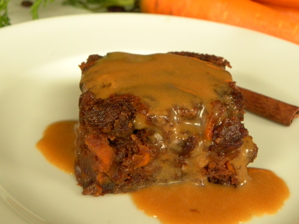 Grain Free Raisin Carrot Cake with Cinnamon Glaze Recipe
